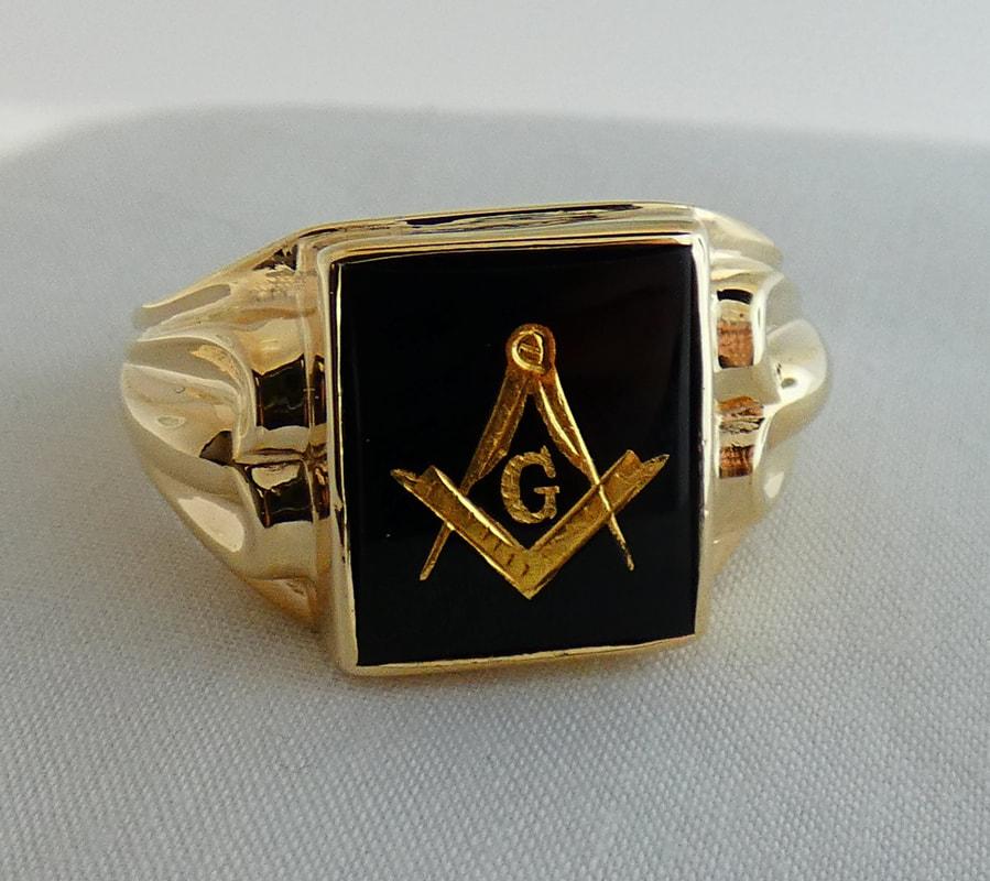 658138fbecb 10k Yellow Gold Black Onyx Masonic Ring EST1329 $995.00